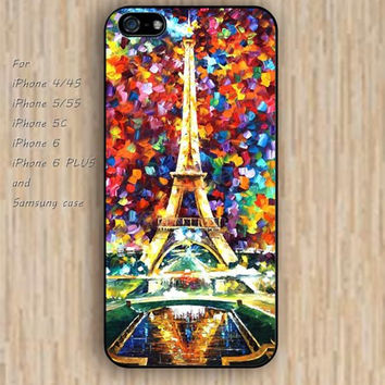 iPhone 6 case watercolor Eiffel Tower iphone case,ipod case,samsung galaxy case available plastic rubber case waterproof B064