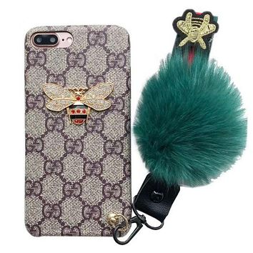 GUCCI bee iPhone7P cover 6S lanyard new phone case F/A