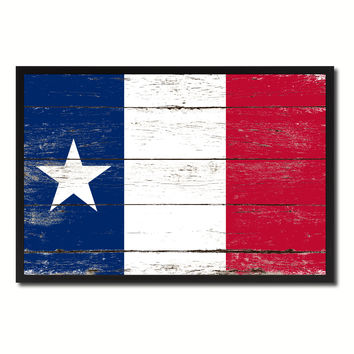 Texas Dodsons Historical Military Flag Vintage Canvas Print with Picture Frame Home Decor Man Cave Wall Art Collectible Decoration Artwork Gifts