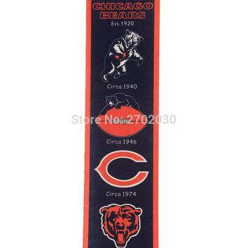 New Arrival Chicago Bears Baseball Team San Francisco Giants Rectangle Heritage Flags Banners With String Felt Pennats 20*81cm
