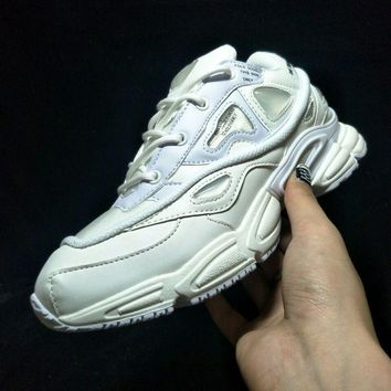 Raf Simons x Adidas Consortium Ozweego 2 Bunny Cream 2018 Women Men Casual Trending Running Sports Shoes Sneakers