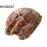 miaoxi Adult Women Hat Scarf Two Used Autumn Warm Caps Knit Bonnet Girl Beanie Skullies Gorro Hats For Women Free shipping