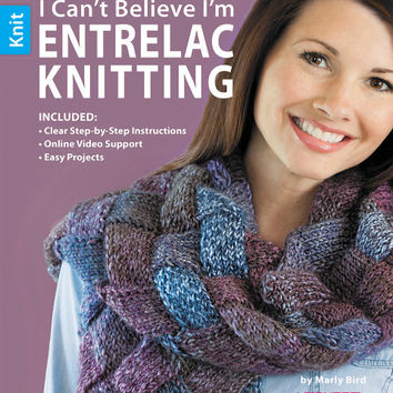leisure arts i can't believe i'm entrelac knitting book
