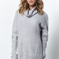 Honey Punch Turtleneck Pullover Sweater - Womens Sweater - Grey