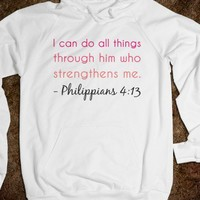 I can do all things through him who strengthens me