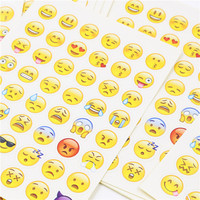 DIY Cute Kawaii Paper Sticker Creative QQ Expression Sticky Paper For Scrapbooking Photo Album Diary Free Shipping 987
