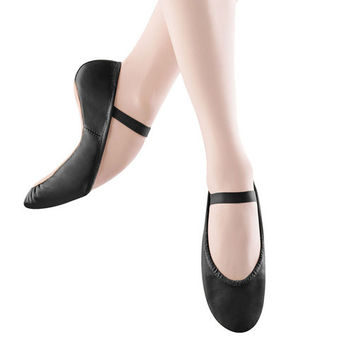 Child Dansoft Full Sole Leather Ballet Slipper (Black) S0205G