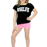 Dirtee Hollywood Selfie Tee with Rips | Mod Angel