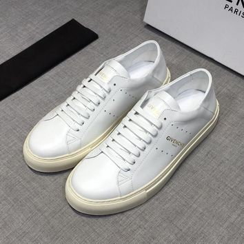 GIVENCHY White Leather Low Sneakers - Best Deal Online
