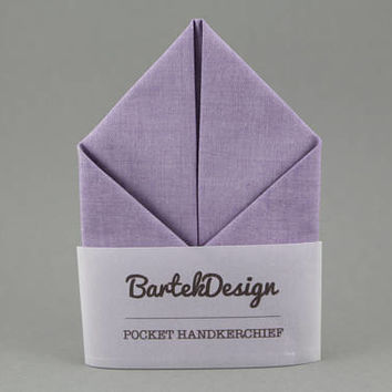 Purple Pocket Square Violet Handkerchief Violet Pocket Square Monogram Pocket Square Men Grooms Handkerchief Mens Hankie Personalized Gift