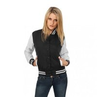 Urban Classics Women's Ladies Light College Jacket:Amazon:Clothing