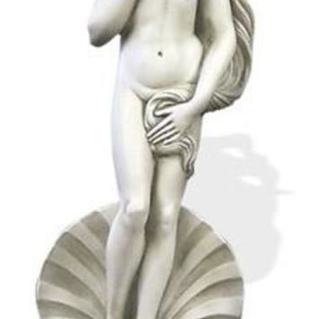 Birth of Venus from Shell by Botticelli Greek Garden Statue 26H