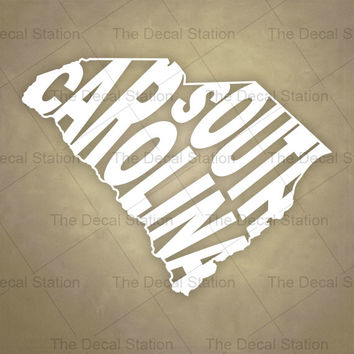 South carolina vinyl decal sticker for car truck auto word art