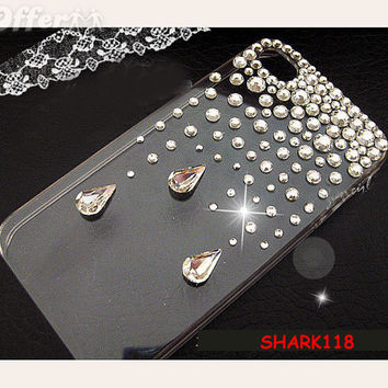 Bling Crystal Drop Clear Case Cover Apple iPhone 5C