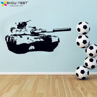 Army Tank Wall Decal Vinyl Sticker Design - Boys Rooms Wall Mural Sticker - Military Fans Children's Room Decor - Free Shipping