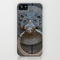 Pig Door Knocker iPhone & iPod Case by Karl Wilson Photography