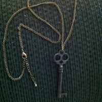 Antique skeleton key used as a necklace