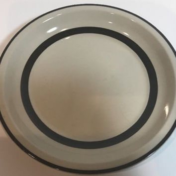 Vintage Berry Band  by Sears Set of 4 Salad Plates Stoneware Brown Verge Japan