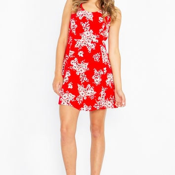 ANOTHER DAY FLORAL CRISS CROSS DRESS