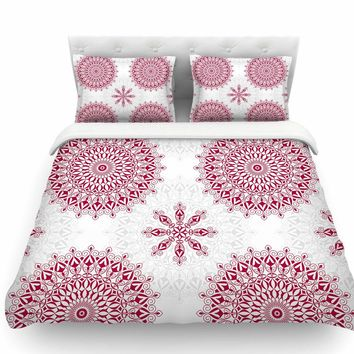 Geometric Mandalas by Julia Grifol Featherweight Duvet Cover