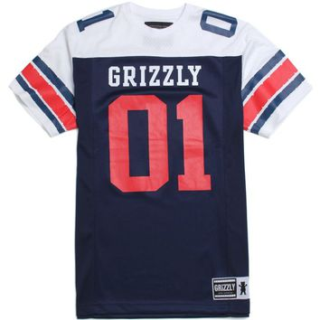 Grizzly GHS Football Jersey - Mens Tee - Black/Ebony