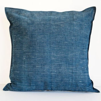 b'sbee indigo stripe cushion cover