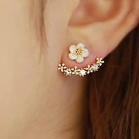 925 Silver Floral Hot Sale Earrings [10399363668]