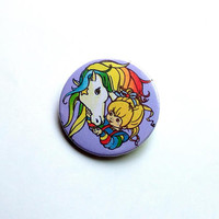 Rainbow Brite - button badge or magnet 1.5 Inch