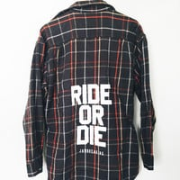 Ride or Die Flannel - Charcoal