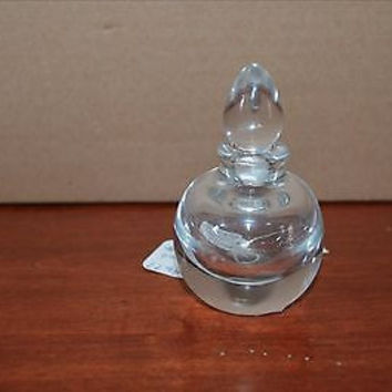 Antique Small size Crystal Glass  Vanity Perfume Bottle