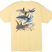 Guy Harvey Shark Collage Back-Print T-Shirt