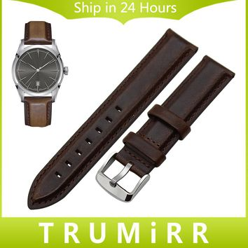18mm 20mm Calf Genuine Leather Watchband Color Changing for Hamilton Men Women Watch Band Wrist Strap Bracelet Black Brown +Tool