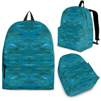 Green Paisley Enhanced Design - Backpacks