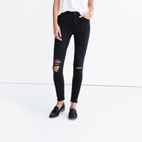"9"" High-Rise Skinny Jeans in Black Sea : 