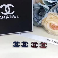 2018 New arrival  Chanel logo stud Acrylic process