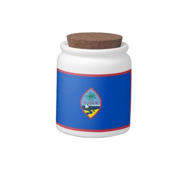 Guam Flag Candy Jar