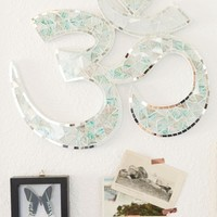 Turquoise and White Om Mosaic