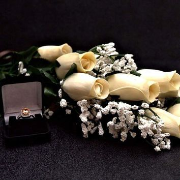 Cream Bouquet Jewelry Roses Bouquet