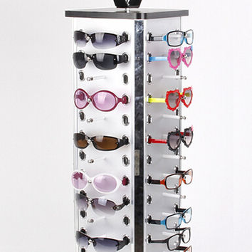 Aluminum Sunglasses Display Holder Rack Stand For 52pairs