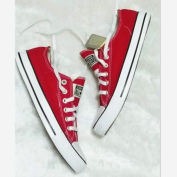 Converse All Star Sneakers canvas shoes for Unisex sports shoes low-top Red