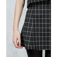 Hearts and Bows Caden Grid Skirt