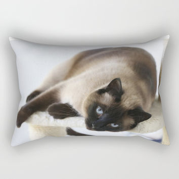 Hey You Rectangular Pillow by Theresa Campbell D'August Art