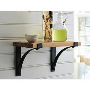 Threshold™ Natural Wood Shelf with Brackets - 12""