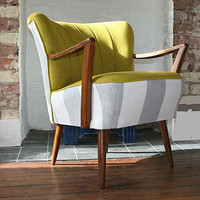 coruna 1940's cocktail chair with arms by hickey and dobson | notonthehighstreet.com