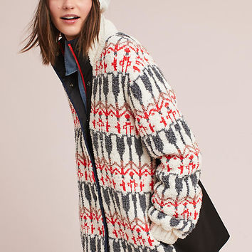 Intarsia Sweater Jacket