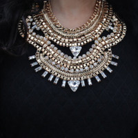 Mirela Gold Statement Necklace