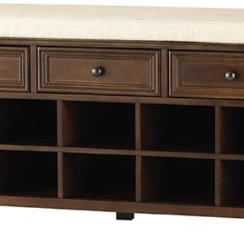 Oxford Shoe Bench - Benches -  Entryway -  Furniture   HomeDecorators.com