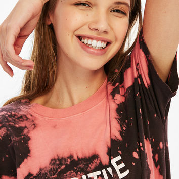 Tie-dye T-shirt with choker neck in back - Tees - Bershka United States