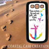 Samsung Galaxy S3 Hard Plastic or Rubber Cell Phone Case Cover Original Colorful Tie Dye Anchor Quote Design