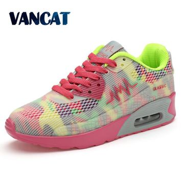 Hot Sale 2017 New Flats Women Air Trainers Breathable Woman Shoes Casual Women Flats shoes Zapatillas Mujer